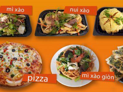 Ngoài pizza, quán còn bán các món ăn no khác